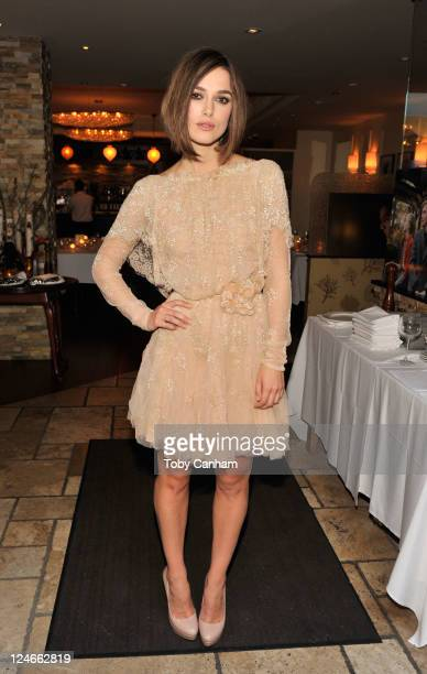Actress Keira Knightley attends Sony Pictures Classic Cocktail Party at Creme Brasserie during the 2011 Toronto International Film Festival on...