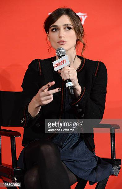 Actress Keira Knightley attends the 2012 Variety Screening Series of 'Anna Karenina' at Mann Chinese 6 on November 12 2012 in Los Angeles California