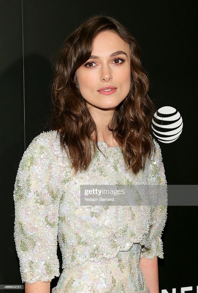 "Actress Keira Knightley attends the 2014 Tribeca Film Festival closing night film ""Begin Again"" hosted by CHANEL at BMCC Tribeca PAC on April 26, 2014 in New York City."