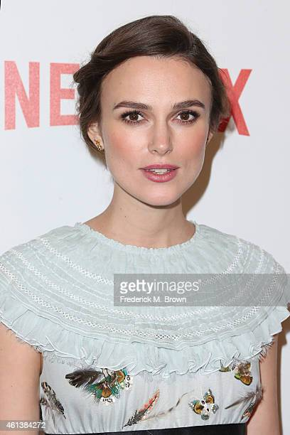 Actress Keira Knightley attends the 2015 Weinstein Company and Netflix Golden Globes After Party at Robinsons May Lot on January 11 2015 in Beverly...
