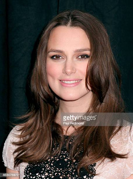 Actress Keira Knightley attends the 2015 Writers Guild Awards LA Ceremony at the Hyatt Regency Century Plaza on February 14 2015 in Los Angeles...