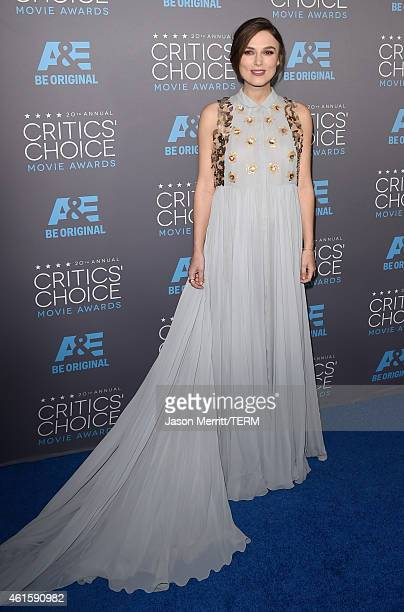 Actress Keira Knightley attends the 20th annual Critics' Choice Movie Awards at the Hollywood Palladium on January 15 2015 in Los Angeles California