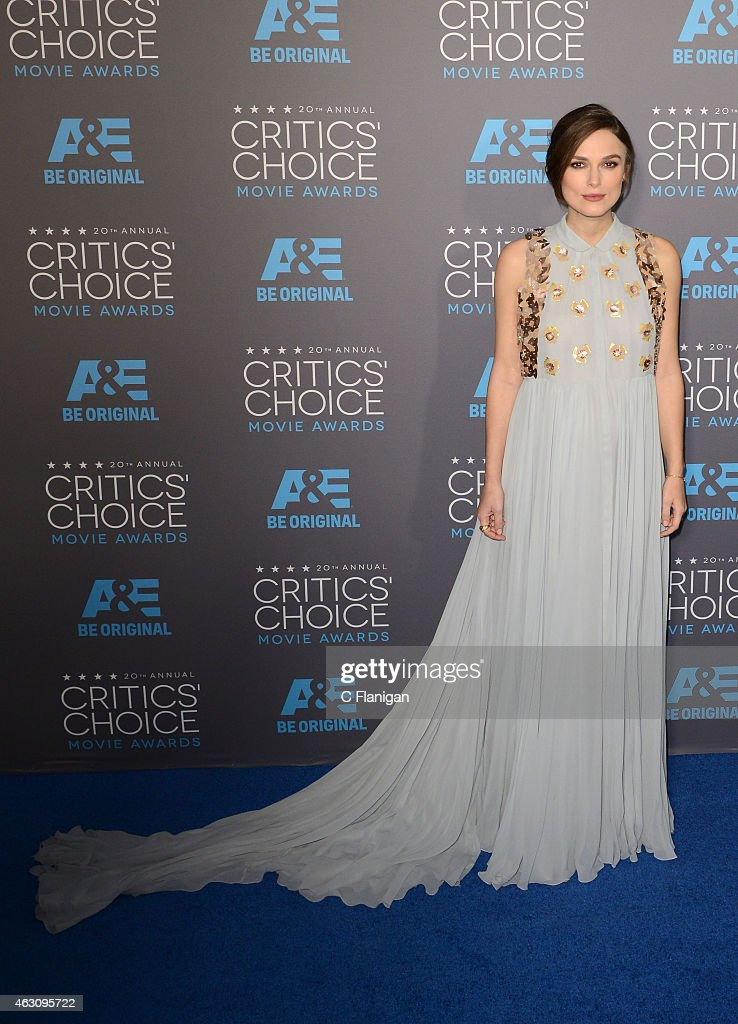 Actress Keira Knightley attends The 20th Annual Critics' Choice Movie Awards at Hollywood Palladium on January 15, 2015 in Los Angeles, California.