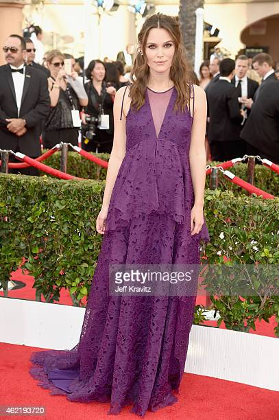 Actress Keira Knightley attends the 21st Annual Screen Actors Guild Awards at The Shrine Auditorium on January 25 2015 in Los Angeles California
