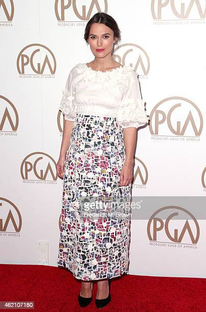 Actress Keira Knightley attends the 26th Annual Producers Guild Of America Awards at the Hyatt Regency Century Plaza on January 24 2015 in Los...