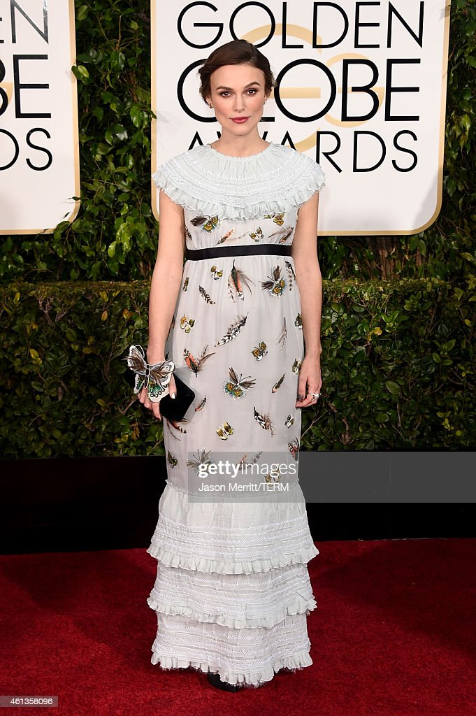 Actress Keira Knightley attends the 72nd Annual Golden Globe Awards at The Beverly Hilton Hotel on January 11 2015 in Beverly Hills California