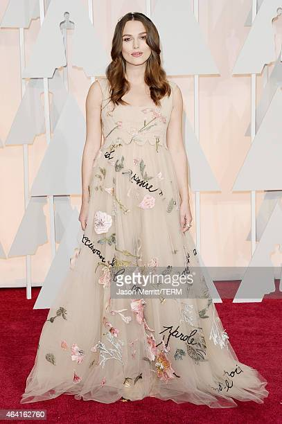 Actress Keira Knightley attends the 87th Annual Academy Awards at Hollywood Highland Center on February 22 2015 in Hollywood California