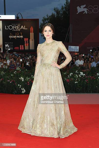 Actress Keira Knightley attends the 'A Dangerous Method' Premiere during the 68th Venice International Film Festival at Palazzo del Cinema on...
