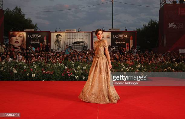 Actress Keira Knightley attends the 'A Dangerous Method' premiere during the 68th Venice Film Festivalat Palazzo del Cinema on September 2 2011 in...