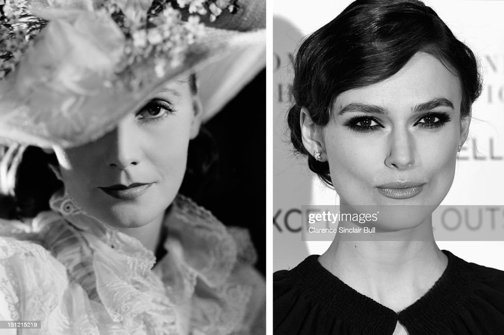 In this composite image a comparison has been made between actresses Greta Garbo (L) and Keira Knightley. Both actresses have played the title role of 'Anna Karenina' with Garbo in the 1935 Clarence Brown directed film while Knightley appears in the 2012 Joe Wright directed version. LONDON, ENGLAND - JANUARY 31: (EDITORS