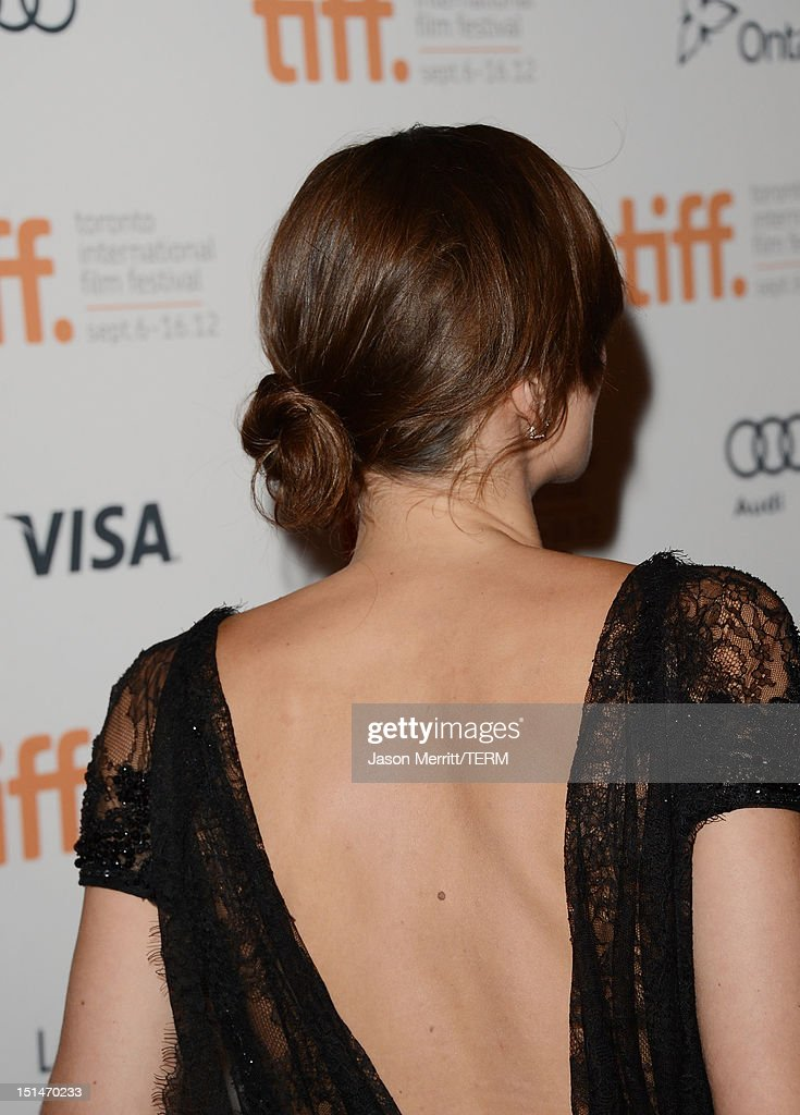 Actress Keira Knightley attends the 'Anna Karenina' premiere during the 2012 Toronto International Film Festival at The Elgin on September 7, 2012 in Toronto, Canada.