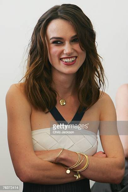 Actress Keira Knightley attends the Atonement photocall during Day 1 of the 64th Annual Venice Film Festival on August 29 2007 in Venice Italy
