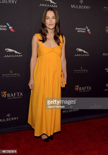 Actress Keira Knightley attends the BAFTA Los Angeles Tea Party at The Four Seasons Hotel Los Angeles At Beverly Hills on January 10 2015 in Los...