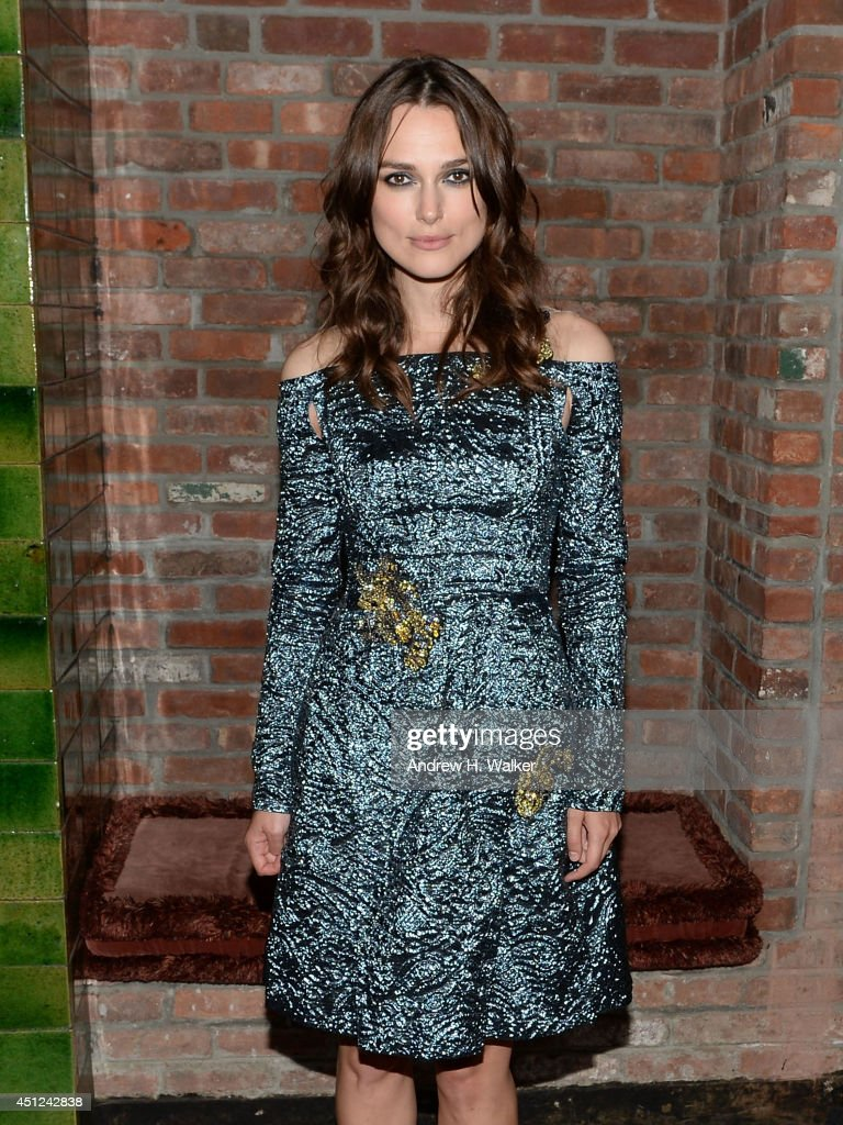 Actress <a gi-track='captionPersonalityLinkClicked' href=/galleries/search?phrase=Keira+Knightley&family=editorial&specificpeople=202053 ng-click='$event.stopPropagation()'>Keira Knightley</a> attends the 'Begin Again' New York premiere after party at The Bowery Hotel on June 25, 2014 in New York City.