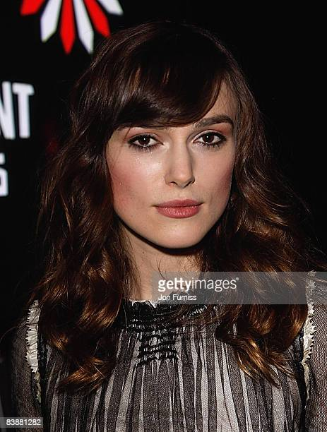 Actress Keira Knightley attends the British Independent Film Awards at the Old Billingsgate Market on November 30 2008 in London England