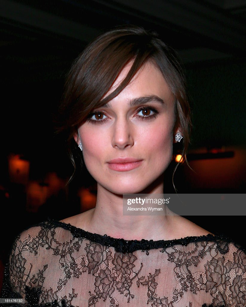 Actress <a gi-track='captionPersonalityLinkClicked' href=/galleries/search?phrase=Keira+Knightley&family=editorial&specificpeople=202053 ng-click='$event.stopPropagation()'>Keira Knightley</a> attends the Grey Goose Vodka and Forevermark Diamonds party for 'Anna Karenina' at Soho House Toronto on September 7, 2012 in Toronto, Canada.