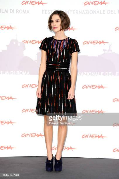 Actress Keira Knightley attends the 'Last Night' photocall during The 5th International Rome Film Festival at Auditorium Parco Della Musica on...