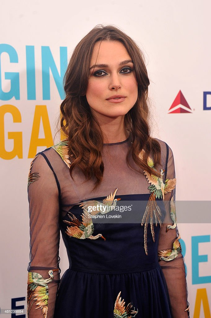 Actress Keira Knightley attends the New York premiere of the Weinstein company's BEGIN AGAIN, sponsored by Delta Airlines and Budweiser at SVA Theater on June 25, 2014 in New York City.