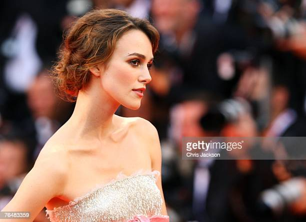 Actress Keira Knightley attends the opening ceremony and the Atonement Premiere on day 1 of the 64th Annual Venice Film Festival on August 29 2007 in...