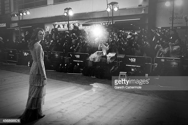 Actress Keira Knightley attends the opening night gala screening of 'The Imitation Game' during the 58th BFI London Film Festival at Odeon Leicester...