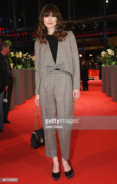 Actress Keira Knightley attends the premiere for Cheri' as part of the 59th Berlin Film Festival at the Grand Hyatt Hotel on February 10 2009 in...