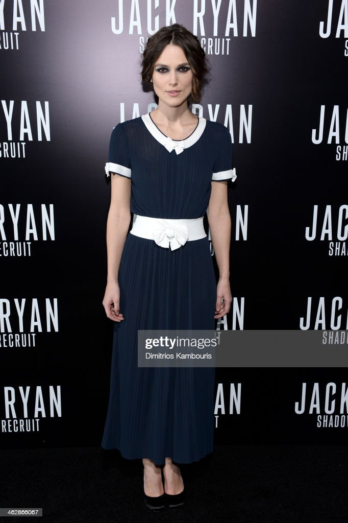 Actress <a gi-track='captionPersonalityLinkClicked' href=/galleries/search?phrase=Keira+Knightley&family=editorial&specificpeople=202053 ng-click='$event.stopPropagation()'>Keira Knightley</a> attends the premiere of Paramount Pictures' 'Jack Ryan: Shadow Recruit' at TCL Chinese Theatre on January 15, 2014 in Hollywood, California.