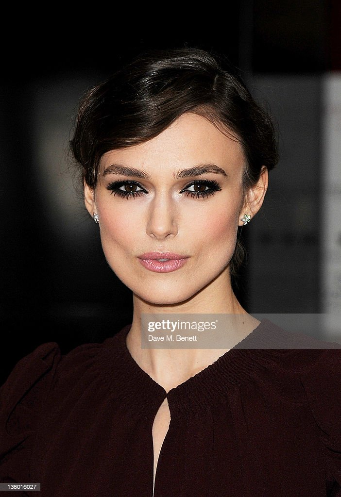 Actress Keira Knightley attends the UK Gala Premiere of 'A Dangerous Method' at The Mayfair Hotel on January 31, 2012 in London, England.
