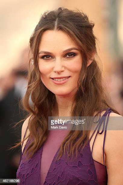 Actress Keira Knightley attends TNT's 21st Annual Screen Actors Guild Awards at The Shrine Auditorium on January 25 2015 in Los Angeles California...