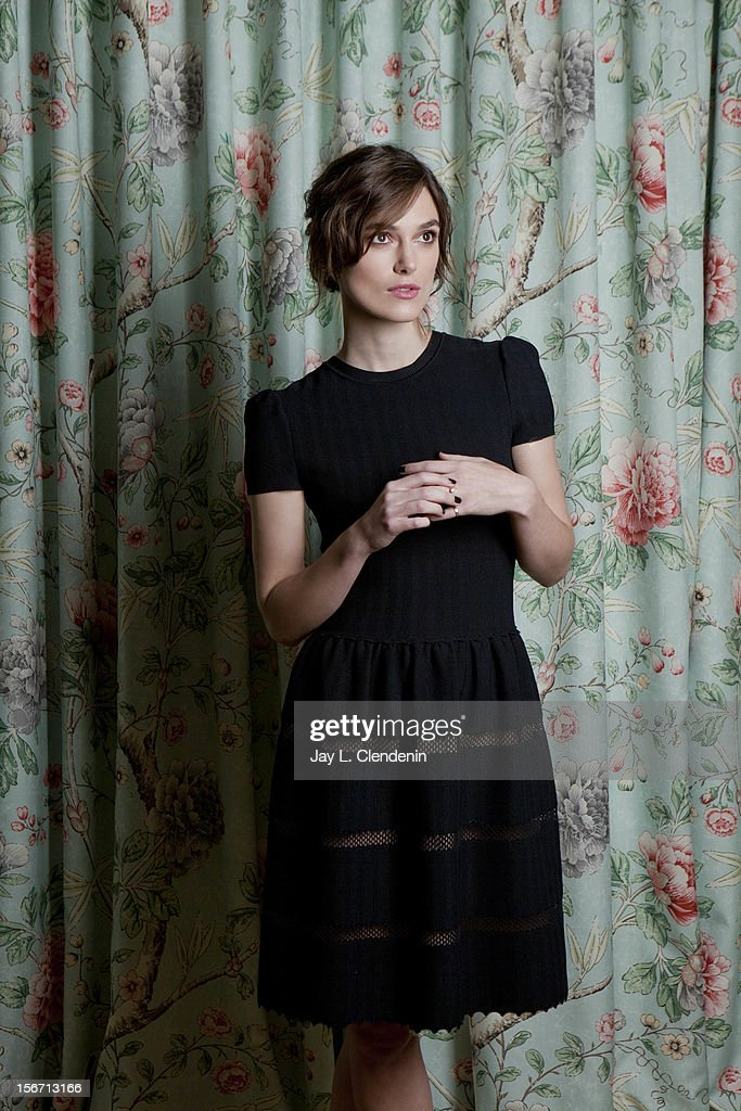 Actress <a gi-track='captionPersonalityLinkClicked' href=/galleries/search?phrase=Keira+Knightley&family=editorial&specificpeople=202053 ng-click='$event.stopPropagation()'>Keira Knightley</a> is photographed for Los Angeles Times on November 15, 2012 in Los Angeles, California. PUBLISHED IMAGE.