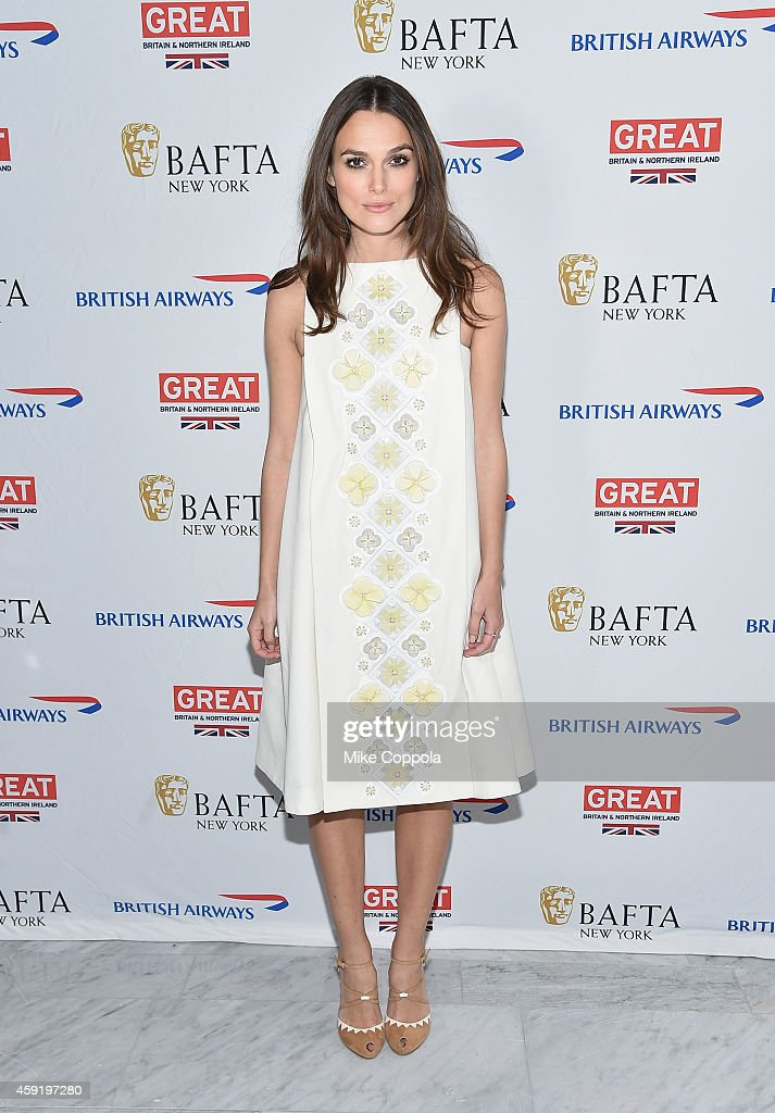 Actress Keira Knightley poses for a picture at BAFTA New York Presents In Conversation With Keira Knightley at The Standard Highline on November 18...