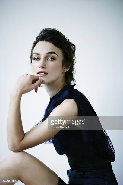 Actress Keira Knightley poses for a portrait shoot for Vanity Fair magazine in London on September 3 2007