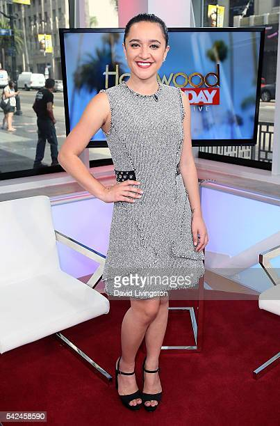 Actress Keisha CastleHughes visits Hollywood Today Live at W Hollywood on June 23 2016 in Hollywood California