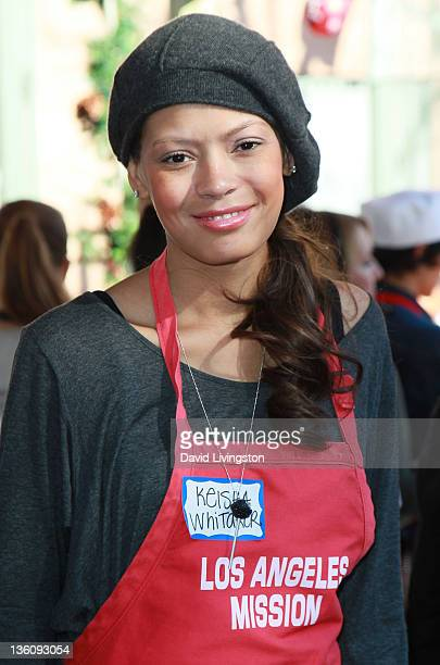 Actress Keisha Whitaker attends the Los Angeles Mission Christmas event at the Los Angeles Mission on December 23 2011 in Los Angeles California