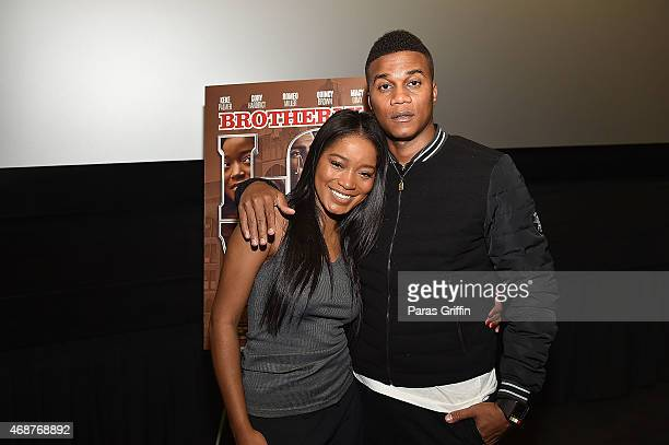 Actress KeKe Palmer and actor Cory Hardrict attenda 'Brotherly Love' Atlanta College Screening at AMC Phipps Plaza on April 6 2015 in Atlanta Georgia