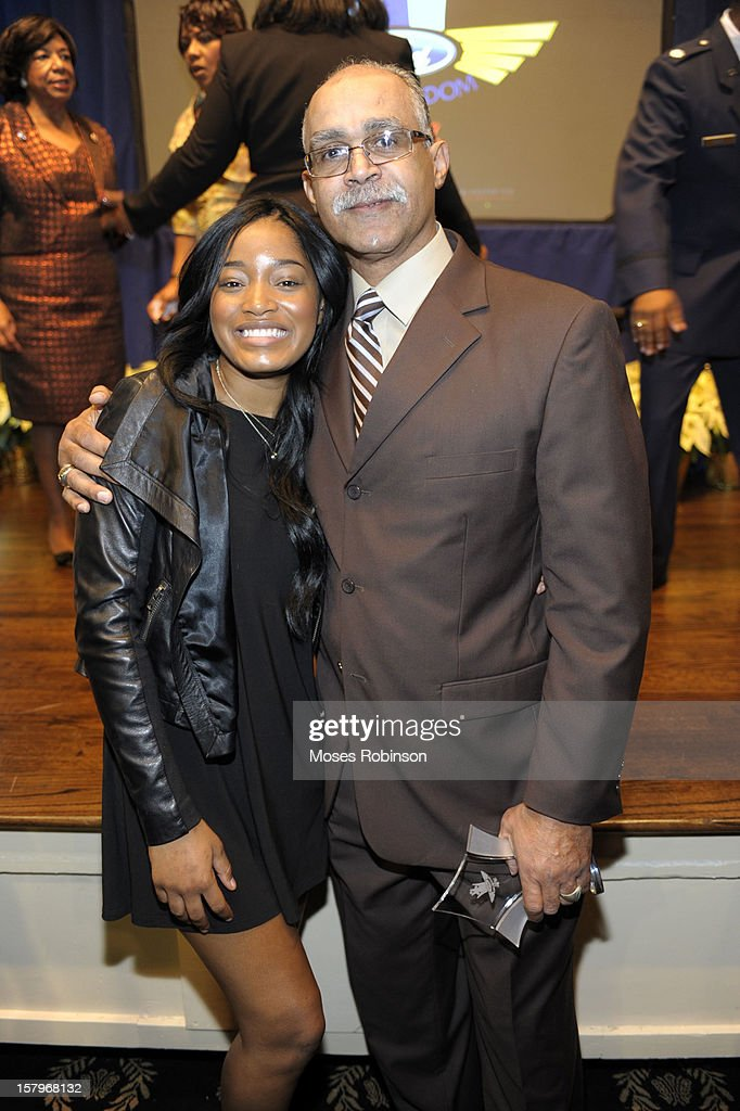 Actress KeKe Palmer and Tracy Campbell attend the 2012 Ford Freedom Usung Awards ceremony at Historic Academy of Medicine at Georgia Institute of Technology on December 7, 2012 in Atlanta, Georgia.