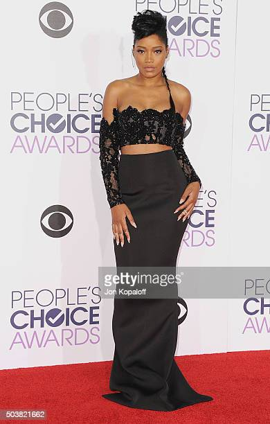 Actress Keke Palmer arrives at People's Choice Awards 2016 at Microsoft Theater on January 6 2016 in Los Angeles California