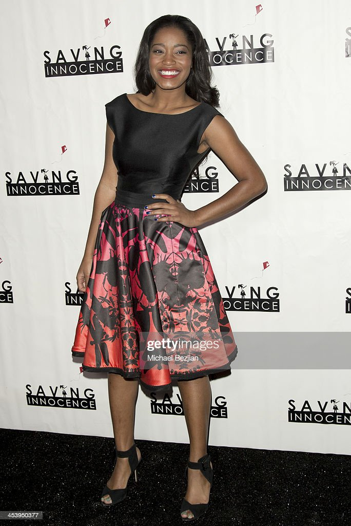 Actress Keke Palmer arrives at the 2nd Annual Saving Innocence Gala Hosted By Kellan Lutz And Keke Palmer - Arrivals at The Crossing on December 5, 2013 in Los Angeles, California.