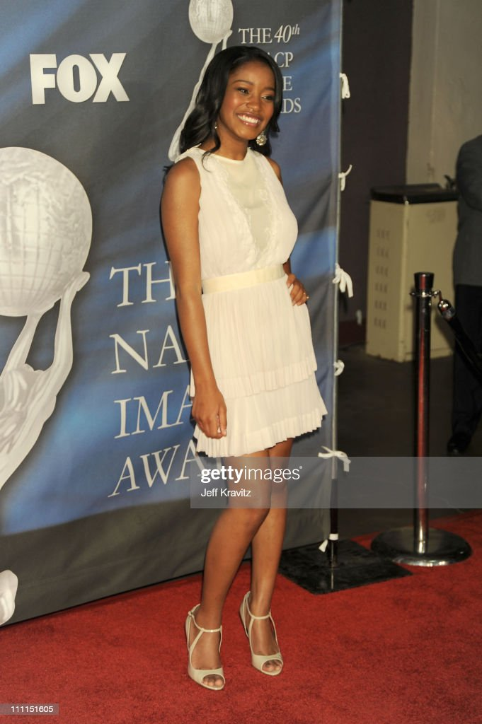 Actress <a gi-track='captionPersonalityLinkClicked' href=/galleries/search?phrase=Keke+Palmer&family=editorial&specificpeople=653121 ng-click='$event.stopPropagation()'>Keke Palmer</a> arrives at the 40th NAACP Image Awards held at the Shrine Auditorium on February 12, 2009 in Los Angeles, California.