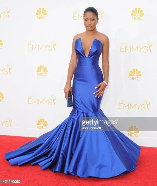 Actress Keke Palmer arrives at the 66th Annual Primetime Emmy Awards at Nokia Theatre LA Live on August 25 2014 in Los Angeles California