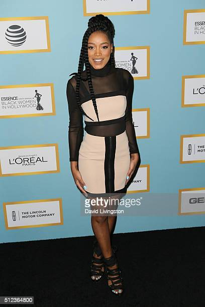 Actress Keke Palmer arrives at the Essence 9th Annual Black Women event in Hollywood at the Beverly Wilshire Four Seasons Hotel on February 25 2016...