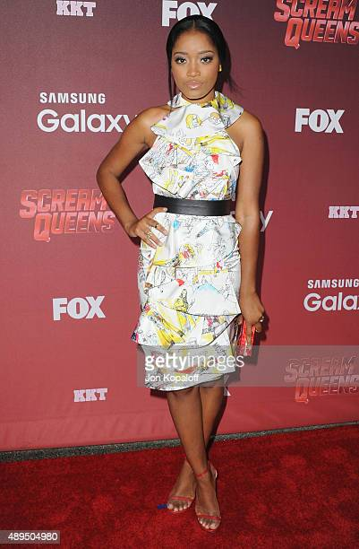 Actress Keke Palmer arrives at the Premiere Of FOX TV's 'Scream Queens' at The Wilshire Ebell Theatre on September 21 2015 in Los Angeles California