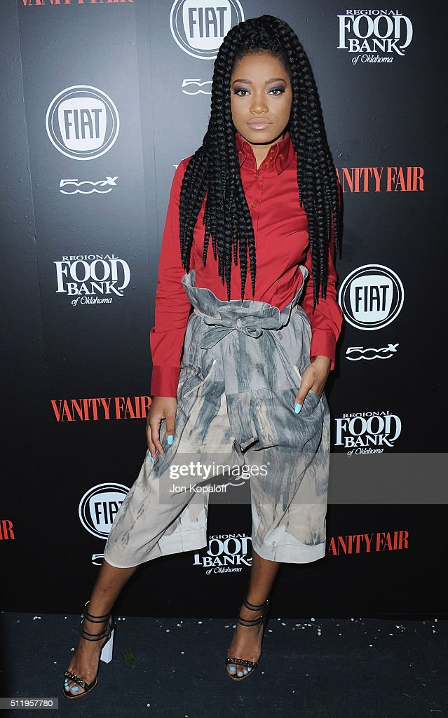 Actress Keke Palmer arrives at Vanity Fair And FIAT Toast To 'Young Hollywood' at Chateau Marmont on February 23 2016 in Los Angeles California