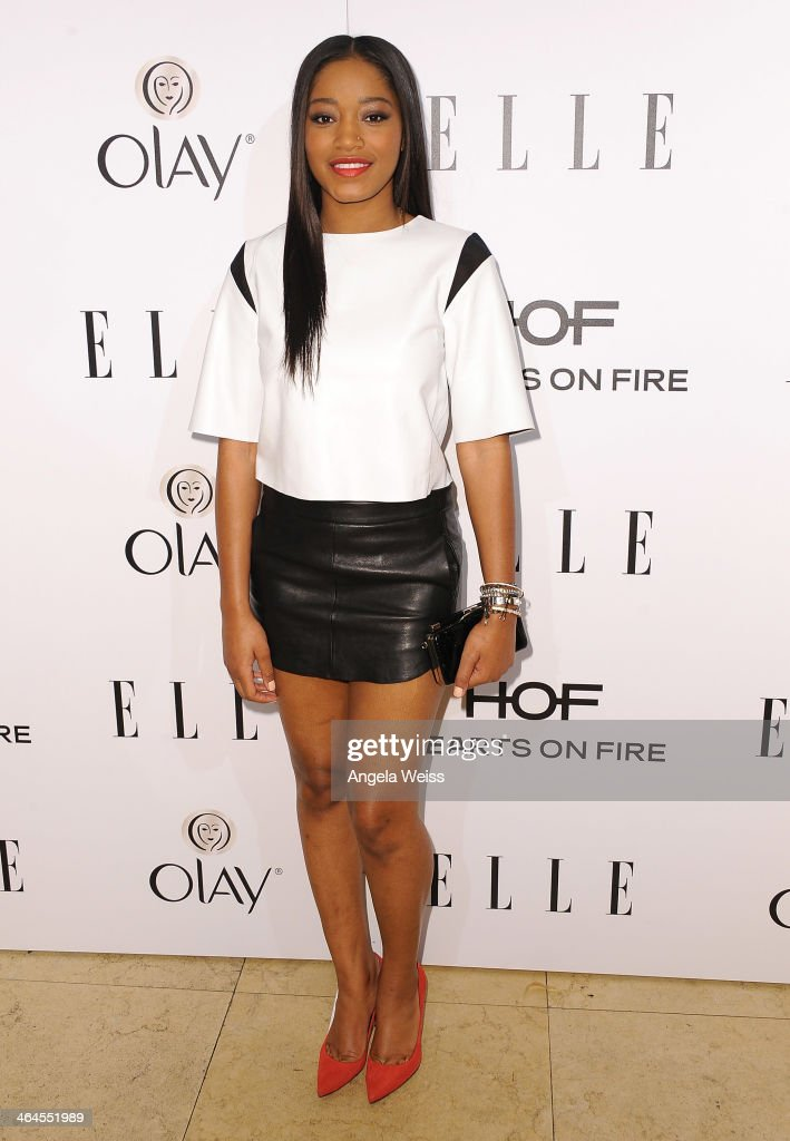 Actress <a gi-track='captionPersonalityLinkClicked' href=/galleries/search?phrase=Keke+Palmer&family=editorial&specificpeople=653121 ng-click='$event.stopPropagation()'>Keke Palmer</a> attends ELLE's Annual Women in Television Celebration at Sunset Tower on January 22, 2014 in West Hollywood, California.
