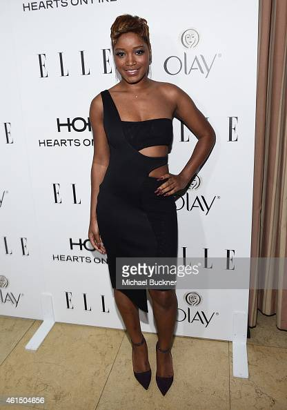 Actress Keke Palmer attends ELLE's Annual Women in Television Celebration on January 13 2015 at Sunset Tower in West Hollywood California Presented...