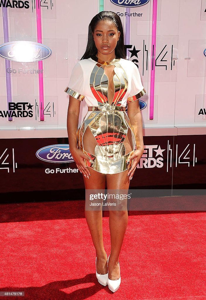 Actress Keke Palmer attends the 2014 BET Awards at Nokia Plaza LA LIVE on June 29 2014 in Los Angeles California