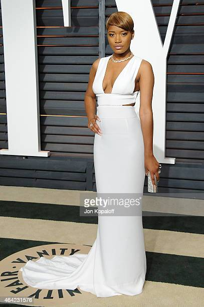 Actress Keke Palmer attends the 2015 Vanity Fair Oscar Party hosted by Graydon Carter at Wallis Annenberg Center for the Performing Arts on February...
