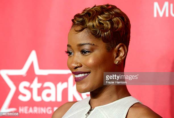 Actress Keke Palmer attends the 25th anniversary MusiCares 2015 Person Of The Year Gala honoring Bob Dylan at the Los Angeles Convention Center on...