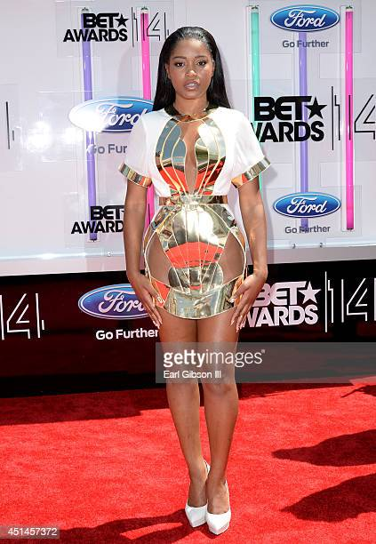 Actress Keke Palmer attends the BET AWARDS '14 at Nokia Theatre LA LIVE on June 29 2014 in Los Angeles California