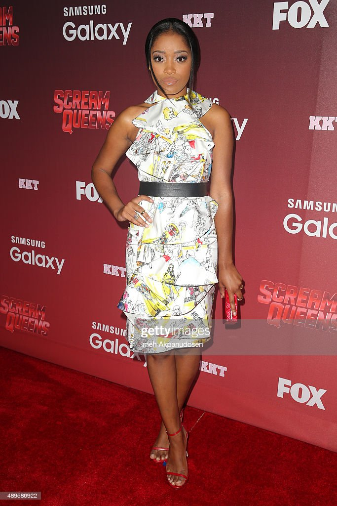 Actress Keke Palmer attends the premiere of FOX TV's 'Scream Queens' at The Wilshire Ebell Theatre on September 21, 2015 in Los Angeles, California.