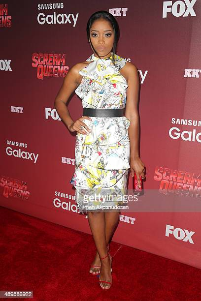 Actress Keke Palmer attends the premiere of FOX TV's 'Scream Queens' at The Wilshire Ebell Theatre on September 21 2015 in Los Angeles California